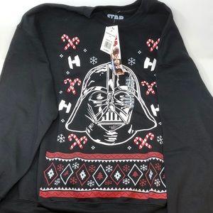 Star Wars Men's Darth Vadar Holiday Sweatshirt